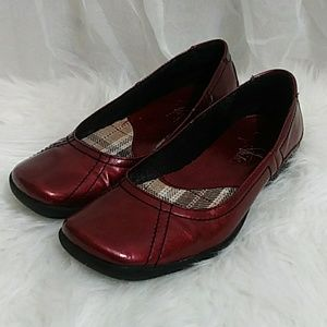 "LIFE STRIDE Ballet ""Derry"" Flats Oxblood Red"